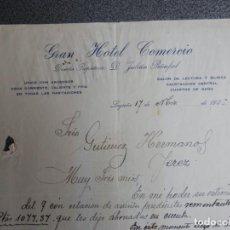 Cartas comerciales: LOGROÑO LOTE 3 CARTAS COMERCIALES AÑOS 1926 GRAN HOTEL COMERCIO - JULIÁN PEÑAFIEL. Lote 198957950