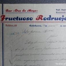 Cartas comerciales: CALAHORRA LA RIOJA CARTA COMERCIAL AÑO 1933 BAR DOS DE MAYO - FRUCTUOSO RODRUEJO. Lote 198958206