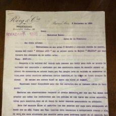 Cartas comerciales: CARTA COMERCIAL. ROIG & CIA. DIRIGIDA A GUTIERREZ HNOS. ARGENTINA, BUENOS AIRES, 1900. VER. Lote 198970160