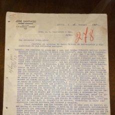 Cartas comerciales: CARTA COMERCIAL. JOSE SANTIAGO DIRIGIDA A A.R. VALDESPINO & HNO. PUERTO CABELLO, VENEZUELA, 1924.VER. Lote 198970277