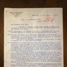 Cartas comerciales: CARTA COMERCIAL. JOSE SANTIAGO DIRIGIDA A A.R. VALDESPINO & HNO. COLON, ARGENTINA, 1926.VER. Lote 198970406