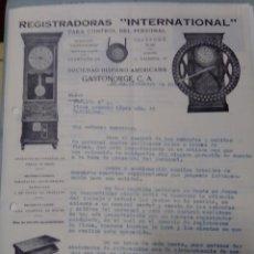 Cartas comerciales: CARTA COMERCIAL 1934 AGENTE IBM EN ESPAÑA. Lote 199035458
