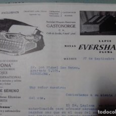 Cartas comerciales: CARTA COMERCIAL 1934 AGENTE IBM EN ESPAÑA. Lote 199035588