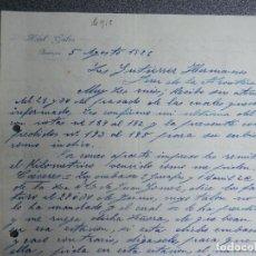 Cartas comerciales: BADAJOZ CARTA COMERCIAL AÑO 1926 HOTEL GALEA . Lote 199347537