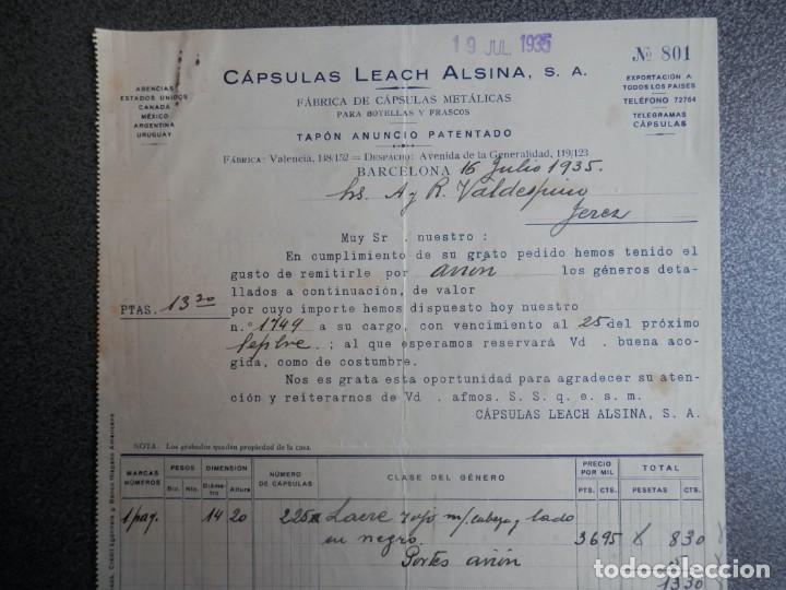 Cartas comerciales: BARCELONA LOTE 13 CARTAS COMERCIALES AÑOS 1891-1935 DIFERENTES - COMERCIO VINOS LICORES - Foto 4 - 199507436