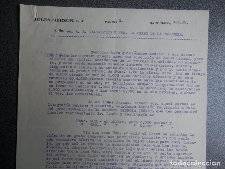 Cartas comerciales: BARCELONA LOTE 13 CARTAS COMERCIALES AÑOS 1891-1935 DIFERENTES - COMERCIO VINOS LICORES - Foto 5 - 199507436