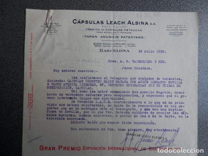 Cartas comerciales: BARCELONA LOTE 13 CARTAS COMERCIALES AÑOS 1891-1935 DIFERENTES - COMERCIO VINOS LICORES - Foto 6 - 199507436