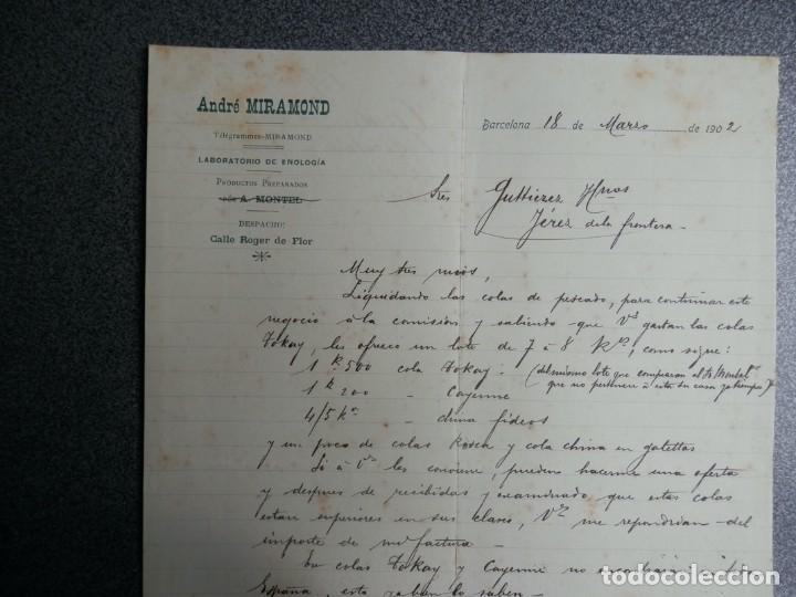 Cartas comerciales: BARCELONA LOTE 13 CARTAS COMERCIALES AÑOS 1891-1935 DIFERENTES - COMERCIO VINOS LICORES - Foto 7 - 199507436