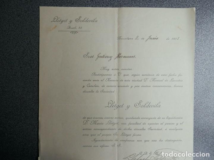Cartas comerciales: BARCELONA LOTE 13 CARTAS COMERCIALES AÑOS 1891-1935 DIFERENTES - COMERCIO VINOS LICORES - Foto 8 - 199507436