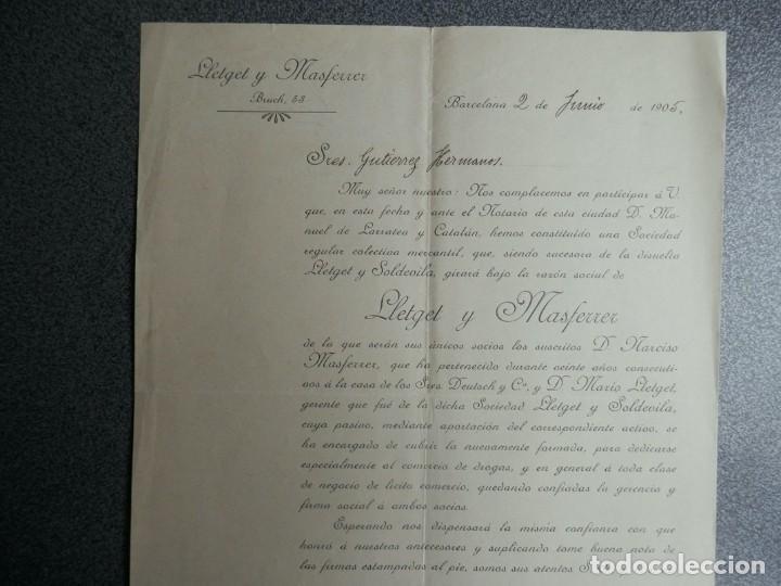 Cartas comerciales: BARCELONA LOTE 13 CARTAS COMERCIALES AÑOS 1891-1935 DIFERENTES - COMERCIO VINOS LICORES - Foto 9 - 199507436