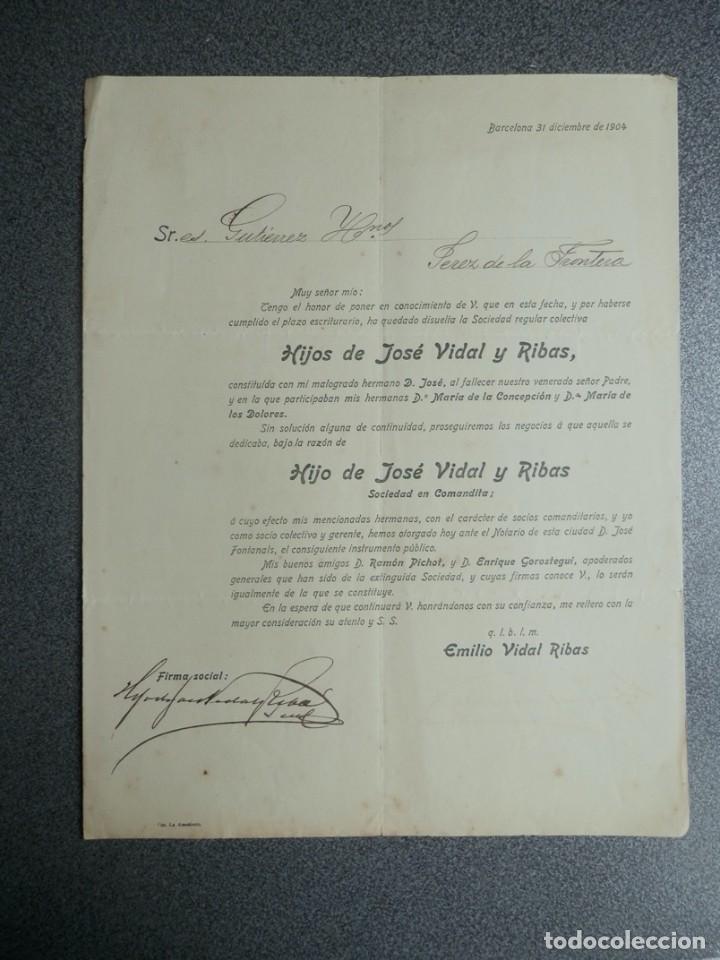 Cartas comerciales: BARCELONA LOTE 13 CARTAS COMERCIALES AÑOS 1891-1935 DIFERENTES - COMERCIO VINOS LICORES - Foto 10 - 199507436
