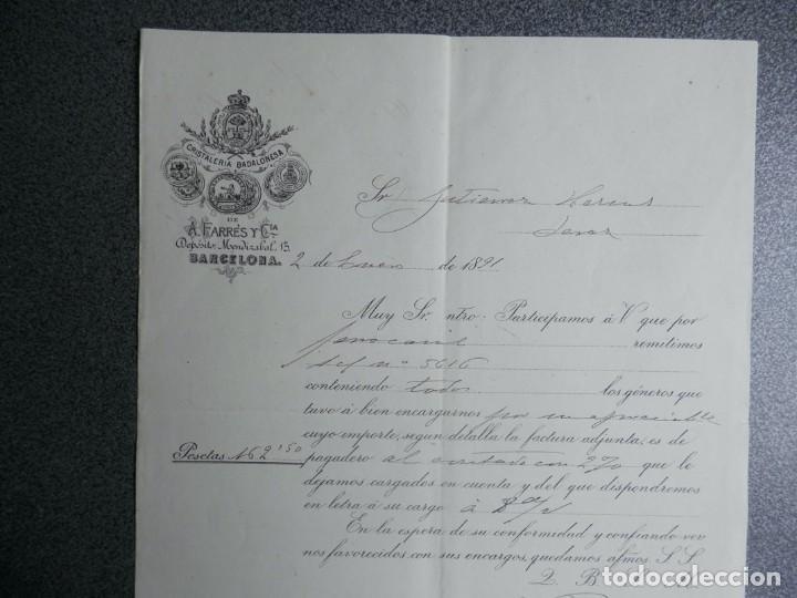 Cartas comerciales: BARCELONA LOTE 13 CARTAS COMERCIALES AÑOS 1891-1935 DIFERENTES - COMERCIO VINOS LICORES - Foto 13 - 199507436