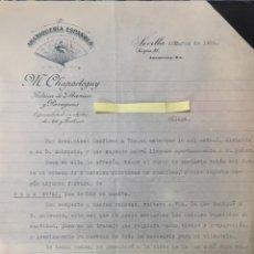 Cartas comerciais: CARTA COMERCIAL ABANIQUERÍA ESPAÑOLA CHAPARTEGUY. SEVILLA AÑO 1926. Lote 199591450