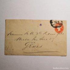 Cartas comerciales: ANTIGUO SOBRE PARA CARTA - SIGLO XIX - GÊNES - GENOVA ITALIA - CON SELLO A IDENTIFICAR - VACIO / 35. Lote 199832090