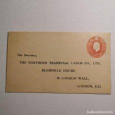 Cartas comerciales: ANTIGUO SOBRE THE NORTHERN TRANSVAAL LANDS CO., LTD. LONDON BLOMFIELD HOUSE - VACIO / 36. Lote 199832266