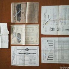 Cartas comerciales: LOTE TARIFAS DOCUMENTOS PUBLICIDAD VDA. E HIJOS DE ANTONIO USON ZARAGOZA 1932 1933 1934. Lote 200175631