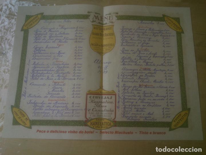 Cartas comerciales: CARTA RESTAURANTE MENU RIO DE JANEIRO - Foto 2 - 209997555
