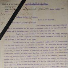 Cartas comerciales: CARTA COMERCIAL. HARO & Cª SUCS. MÉRIDA DE YUCATÁN 1902. Lote 214321948
