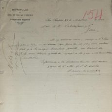 Cartas comerciais: CARTA COMERCIAL. MONOPOLIO DE VENTA DE CERILLAS Y FÓSFOROS. SAN SEBASTIÁN. ESPAÑA 1910. Lote 201770970