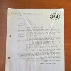 Cartas comerciales: CARTA COMERCIAL DCA DOMINGO CERVEZA ALONSO ASPE ALICANTE 1948. Lote 201901917