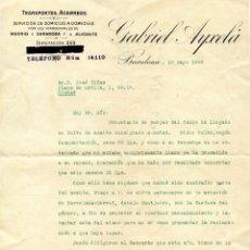 Cartas comerciales: LES BORGES DEL CAMP CARTA, RECIBO Y SOBRE CON SELLO (1929). Lote 201918740