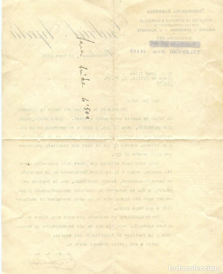 Cartas comerciales: Les Borges del Camp Carta, Recibo y Sobre con sello (1929) - Foto 2 - 201918740