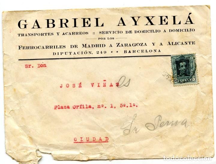 Cartas comerciales: Les Borges del Camp Carta, Recibo y Sobre con sello (1929) - Foto 4 - 201918740