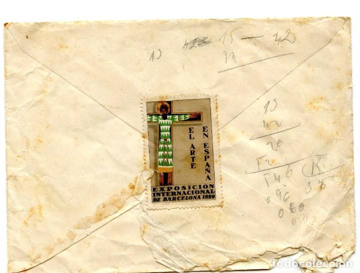 Cartas comerciales: Les Borges del Camp Carta, Recibo y Sobre con sello (1929) - Foto 5 - 201918740