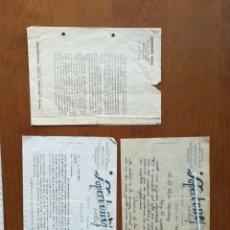 Cartas comerciales: 2 CARTA COMERCIAL Y DIPTICO PUBLICIDAD SUPERTONO RADIO BARCELONA 1946 LUIS TORRAS. Lote 201919666