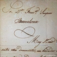 Cartas comerciales: CARTAS RELACIONADAS CON EL AGENTE COMERCIAL FRANCISCO SANPONS. MANUSCRITOS. ESPAÑA. CIRCA 1825. Lote 202410538