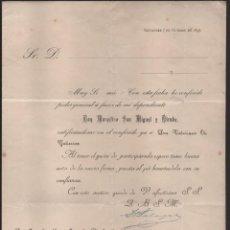Cartas comerciales: SANTANDER.- MARCELINO SAN MIGUEL Y DIRUBE, PODERES PARA FIRMAR: FRANCISCO SALAZAR- 7 OCTUBRE 1893- V. Lote 202537573