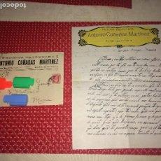 Cartas comerciales: BAZA ( GRANADA ) - PENSION BASTETANA - ANTONIO CAÑADAS - CARTA Y SOBRE - 27 DE MAYO DE 1933. Lote 202914051