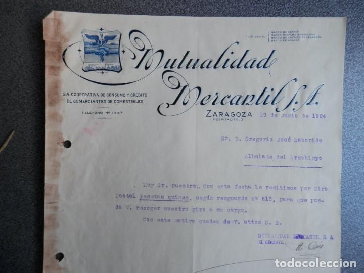 ZARAGOZA LOTE 10 CARTAS COMERCIALES AÑO 1924-32 DIFERENTES FÁBRICAS, COMERCIOS... (Coleccionismo - Documentos - Cartas Comerciales)