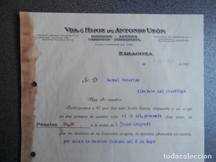 Cartas comerciales: ZARAGOZA LOTE 10 CARTAS COMERCIALES AÑO 1924-32 DIFERENTES FÁBRICAS, COMERCIOS... - Foto 2 - 202974163