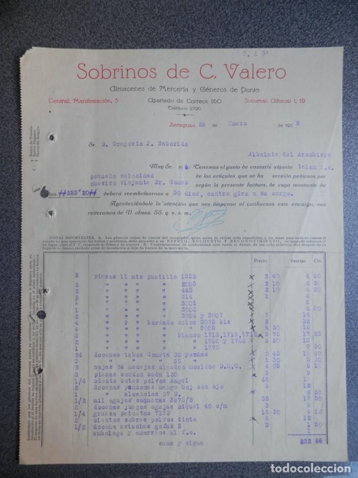 Cartas comerciales: ZARAGOZA LOTE 10 CARTAS COMERCIALES AÑO 1924-32 DIFERENTES FÁBRICAS, COMERCIOS... - Foto 3 - 202974163