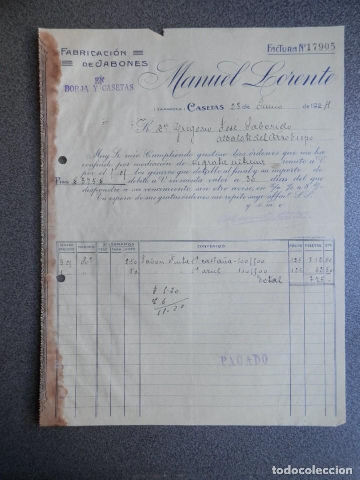 Cartas comerciales: ZARAGOZA LOTE 10 CARTAS COMERCIALES AÑO 1924-32 DIFERENTES FÁBRICAS, COMERCIOS... - Foto 4 - 202974163