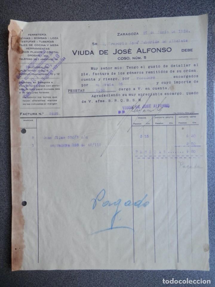 Cartas comerciales: ZARAGOZA LOTE 10 CARTAS COMERCIALES AÑO 1924-32 DIFERENTES FÁBRICAS, COMERCIOS... - Foto 6 - 202974163