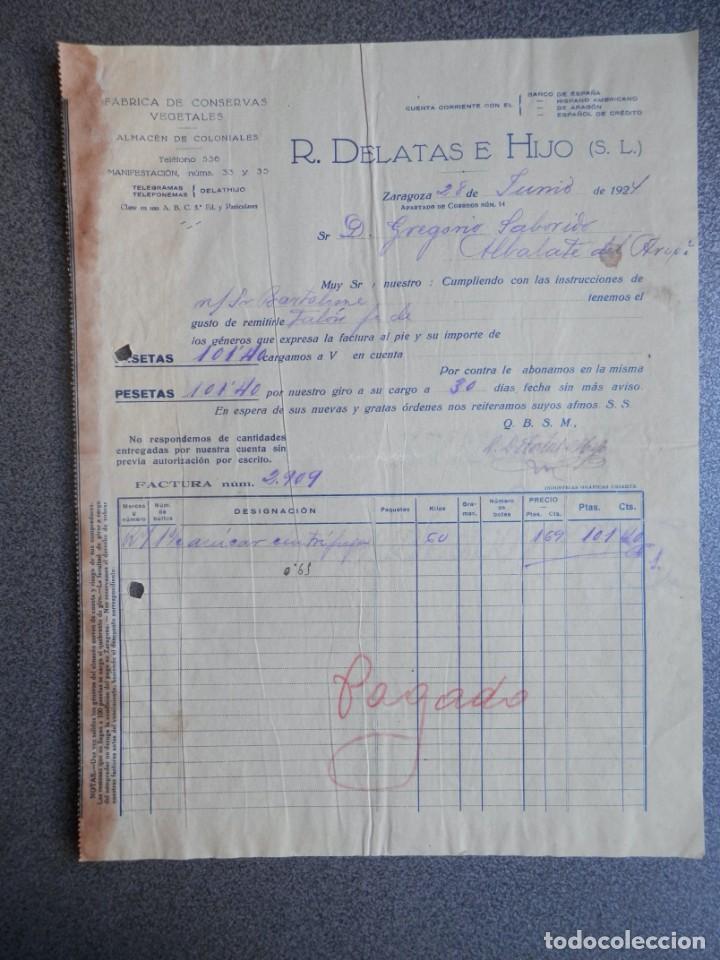 Cartas comerciales: ZARAGOZA LOTE 10 CARTAS COMERCIALES AÑO 1924-32 DIFERENTES FÁBRICAS, COMERCIOS... - Foto 7 - 202974163