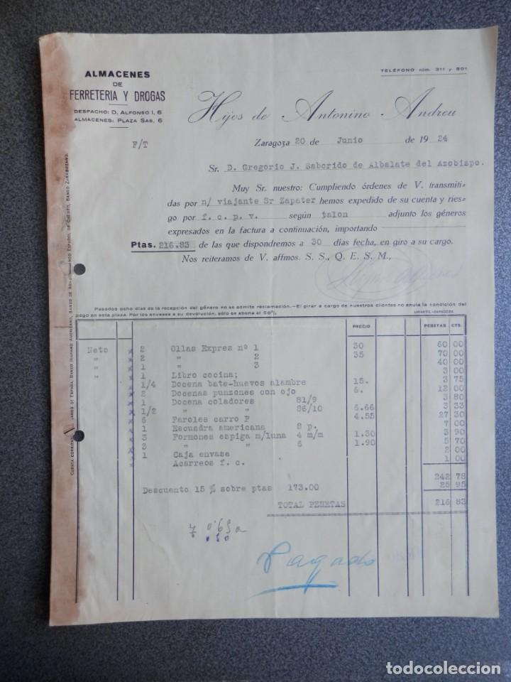 Cartas comerciales: ZARAGOZA LOTE 10 CARTAS COMERCIALES AÑO 1924-32 DIFERENTES FÁBRICAS, COMERCIOS... - Foto 8 - 202974163