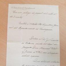 Cartas comerciales: ANTIGUO DOCUMENTO MILITAR CAPITAN DE FRAGATA VIDAL Y FUNES TOTANA MURCIA. Lote 203770641
