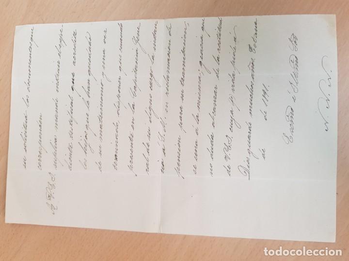 Cartas comerciales: ANTIGUO DOCUMENTO MILITAR CAPITAN DE FRAGATA VIDAL Y FUNES TOTANA MURCIA - Foto 2 - 203770641