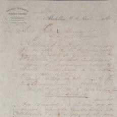 Cartas comerciales: CARTA COMERCIAL. OSPINAS HERMANOS. MEDELLIN. COLOMBIA 1891. Lote 204624085