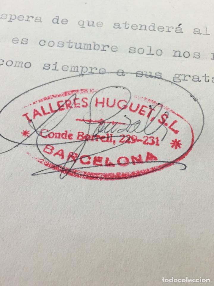 Cartas comerciales: CARTA COMERCIAL FACTURA TALLERES COCHE HUGUET PUBLICIDAD MERCEDES BENZ SEAT (BARCELONA) 1957 - Foto 4 - 204763546