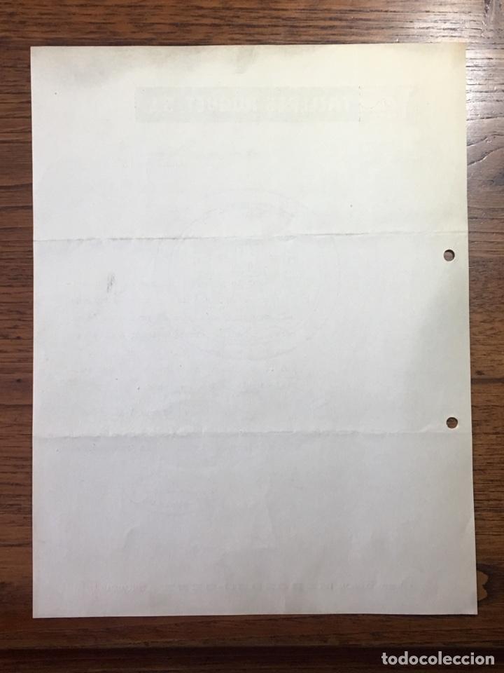 Cartas comerciales: CARTA COMERCIAL FACTURA TALLERES COCHE HUGUET PUBLICIDAD MERCEDES BENZ SEAT (BARCELONA) 1957 - Foto 5 - 204763546