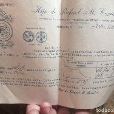 Cartas comerciales: BODEGAS SAN PEDRO HIJO DE RAFAEL M CORRALES CARTA. Lote 205342006