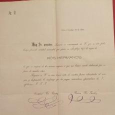 Cartas comerciales: 1882 CARTA ROS HERMANOS GOR GRANADA. Lote 205553717