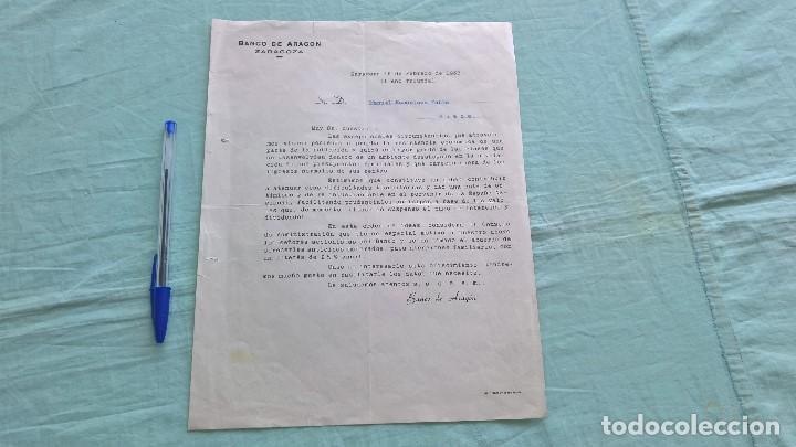 Cartas comerciales: Banco de Aragon..16 Febreoro 1938..II Año Trinfal - Foto 2 - 205680658