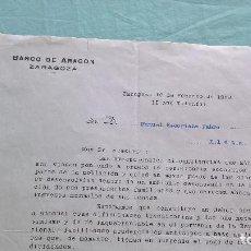 Cartas comerciales: BANCO DE ARAGON..16 FEBREORO 1938..II AÑO TRINFAL. Lote 205680658