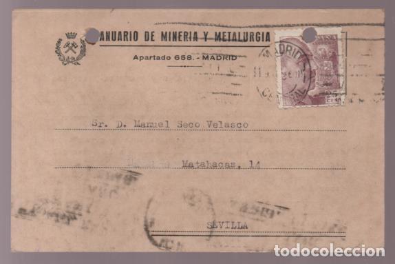 POSTAL --REVISTA MINERIA Y METALURGIA- VER FOTOS (Coleccionismo - Documentos - Cartas Comerciales)