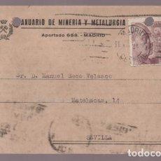Cartas comerciales: POSTAL --REVISTA MINERIA Y METALURGIA- VER FOTOS. Lote 205682587